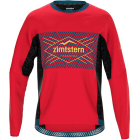 Zimtstern TechZonez Maglietta A Maniche Lunghe Uomo, rosso